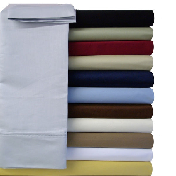 Wrinkle-Free 100% Microfiber Solid Pillowcases (Pair); Includes (2) Standard or King Pillowcases