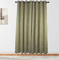 Pierce Woven Jacquard Room Darkening Grommet Panels (One Panel)