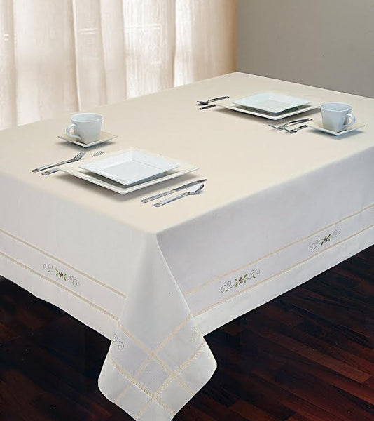 Savannah Embroidered Tablecloth