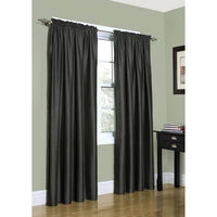 Seamist Rod Pocket Faux Silk Window Single Panel (Available in 6 different colors)