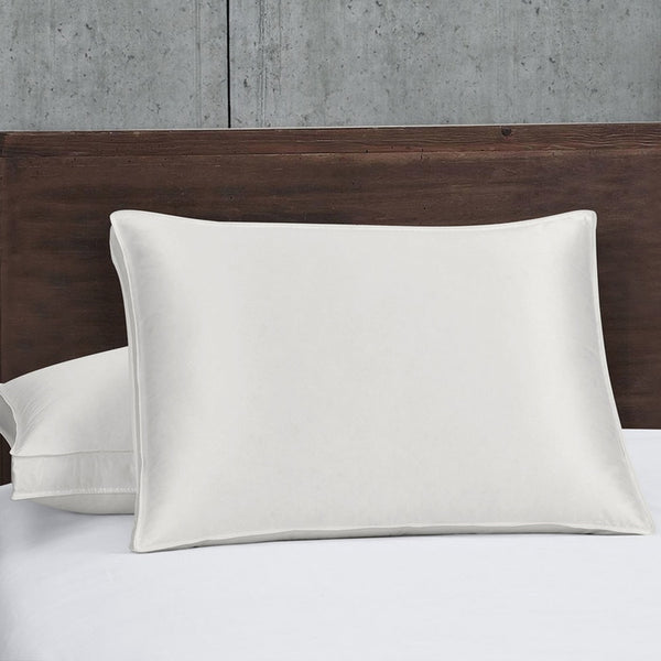 Silk Goose Down Pillows 700 Fill Power Firm Support; Medium to Firm (Single)