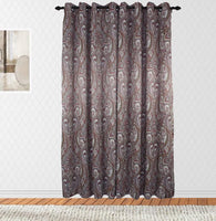 Valencia Printed Paisley Lined Blackout Window Panel Pair (Available in 4 different colors)