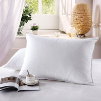 Goose Down Pillows 500 Thread Count Firm Neck Support Pillow (Single)