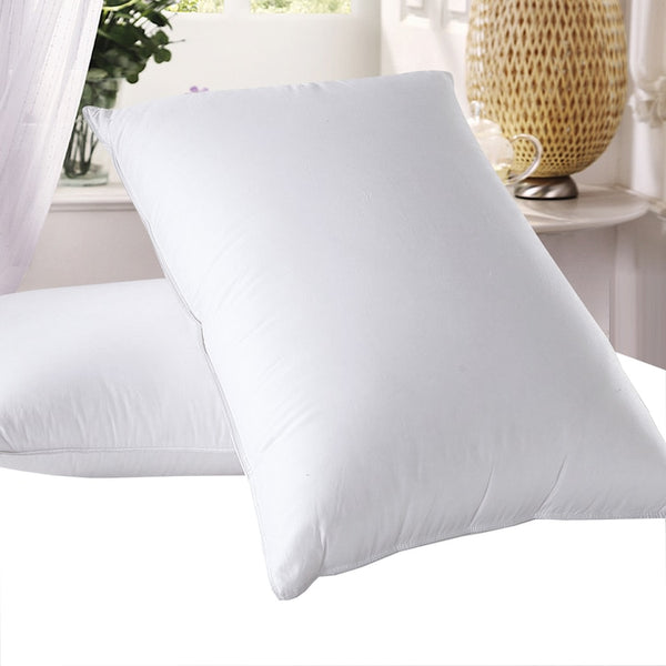 Goose Down Pillows 600 Thread Count Medium Neck Support Pillow (Single)