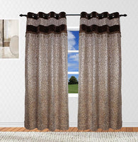 Velvet Top Grommet Fringe Beaded Single Panel (Available in 2 different colors)