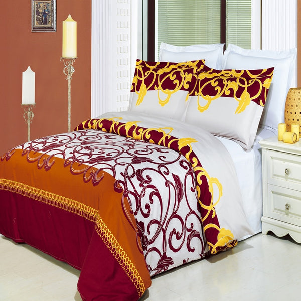 Mission 210 Thread Count 100% Combed Cotton Duvet Cover Set; Includes Duvet Cover and Coordinating Shams