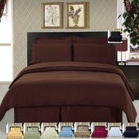 Hypoallergenic 100% Microfiber Solid Duvet Cover Set; Includes Duvet Cover and Coordinating Shams