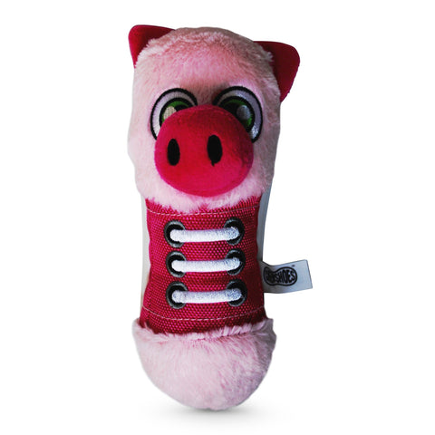 Chew Shoes Pig Large Plush and TPR Dog Toy