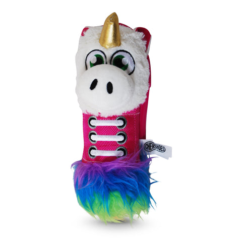 Chew Shoes Unicorn Large Plush and TPR Dog Toy