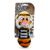 Chew Shoes Tiger Large Plush and TPR Dog Toy Packaging