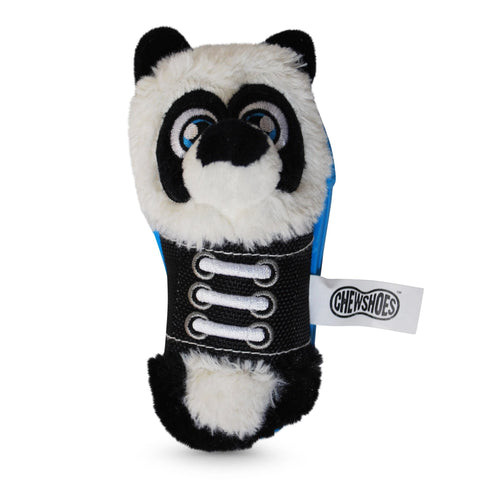 Chew Shoes Panda Small Plush and TPR Dog Toy