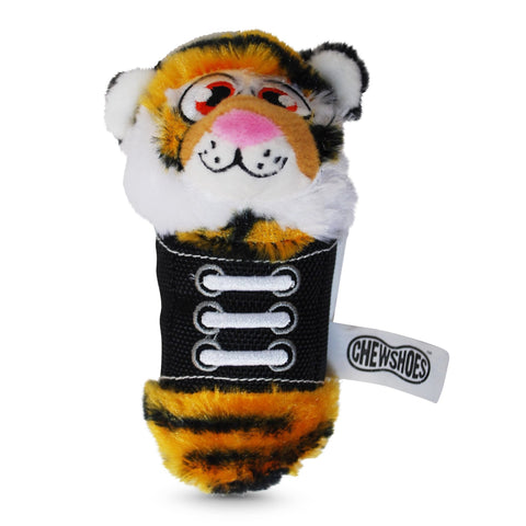 Chew Shoes Tiger Small Plush and TPR Dog Toy