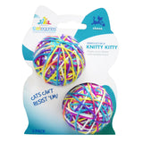Categories Knitty Kitty 2 Pack Yarn Cat Toy on Packaging