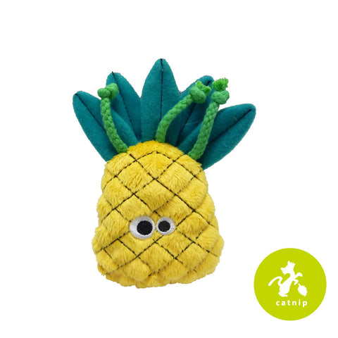 Mad Cat Purrfect Pineapple Catnip Silvervine Plush Cat Toy