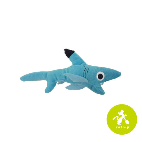 Mad Cat Shark Biter Catnip Silvervine Plush Cat Toy