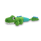 Hush Plush Gator Small Plush On/Off Squeaker Dog Toy