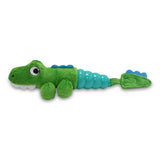 Hush Plush Gator Small Plush On/Off Squeaker Dog Toy Horizontal