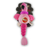 Hush Plush Flamingo Small Plush On/Off Squeaker Dog Toy Packaging