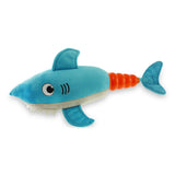 Hush Plush Shark Large Plush On/Off Squeaker Dog Toy