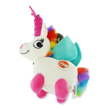 Hush Plush Unicorn Large Plush On/Off Squeaker Dog Toy Packaging