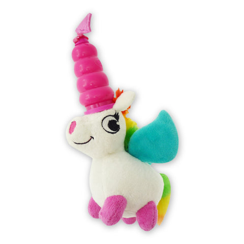 Hush Plush Unicorn Small Plush On/Off Squeaker Dog Toy