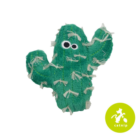 Mad Cat Catty Cactus Catnip Silvervine Plush Cat Toy