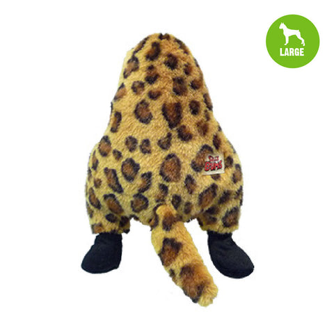 Silly Bums Wild Animals Large Cheetah Plush Dog Toy
