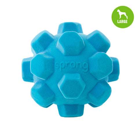 Sprong Hex Ball Large Aqua Blue Dog Toy