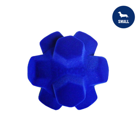 Sprong Hex Ball Small Blue Dog Toy