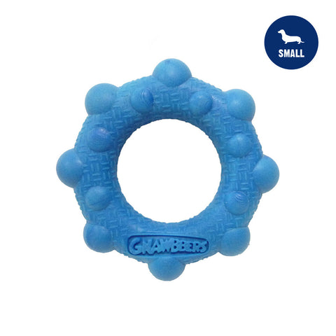 Gnawbbers Bubble Ring Blue Durable Dog Toy
