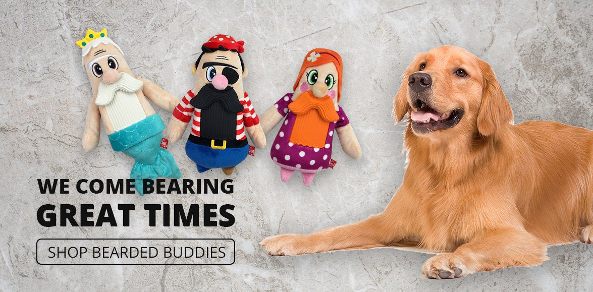 Mega Plush Bearded Buddies Dog Toys