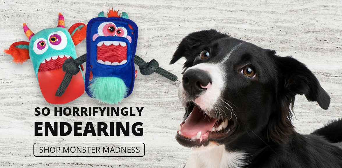 Mega Plush Monster Madness Dog Toys