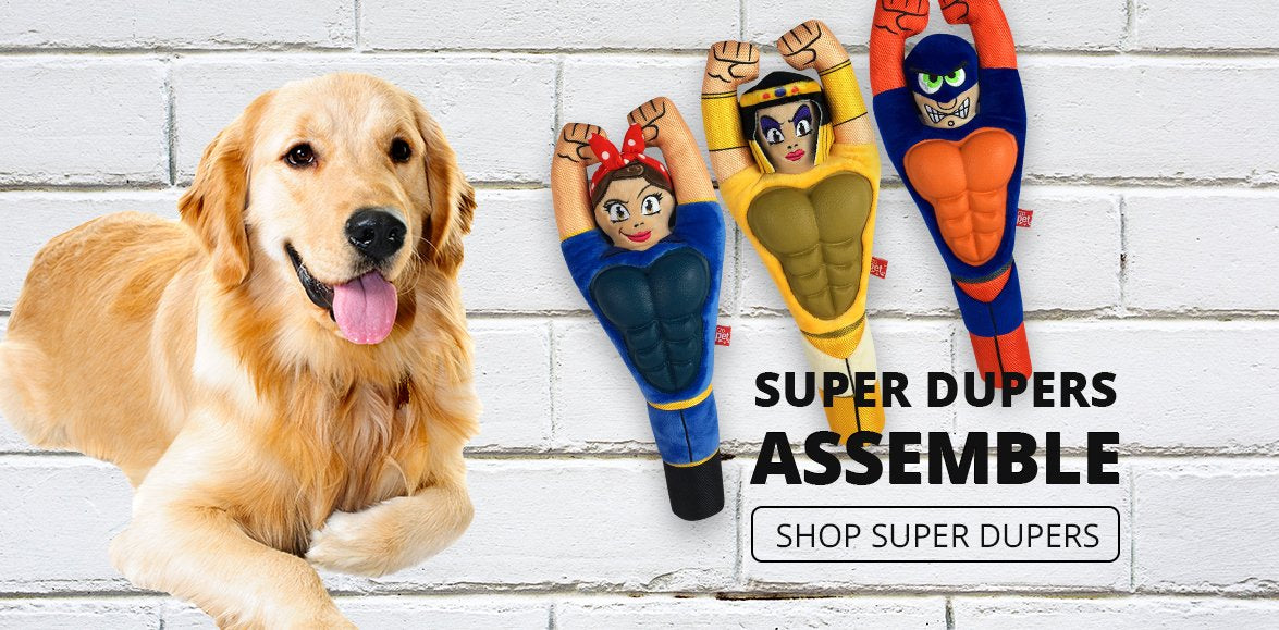 Mega Plush Super Dupers Dog Toys