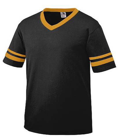 Youth & Tween Black\Gold Unisex Monogrammed Short Sleeve Spirit Shirt- Jersey