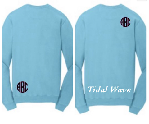 Youth Monogrammed Sweatshirt - Pigment dyed sweatshirt