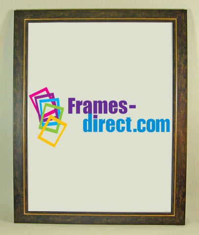 PO6700 20x30 Antiqued Finish Gold Trimmed Polymer Poster Frame