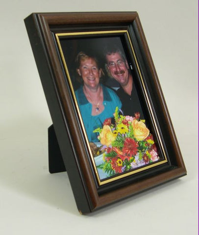 PH9293 4x6 Walnut w/Gold Lip Wood Photo Frame