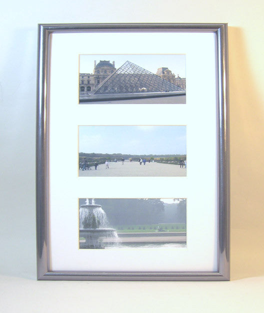 PH7004-71-a-3 Polymer Frame w/Mat, Holds (3) 4x6 Photos
