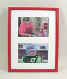 PH7004wtd Glossy Polymer Frame with Mat, Fits (2) 5x7 Photos