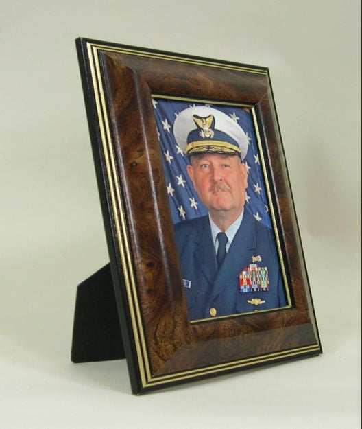 PH2833 Walnut Burl Wood Photo Frame