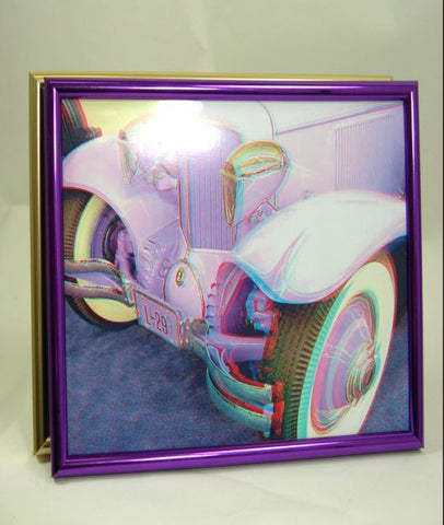 PH China metals 8x10 Brushed Gold or Violet Metallic Photo Frame