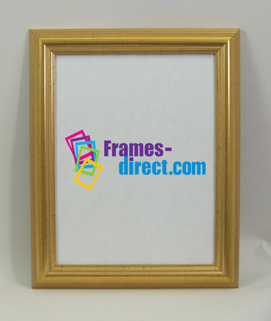 SM1035 8.5x11 Antiqued Gold Polymer Frame