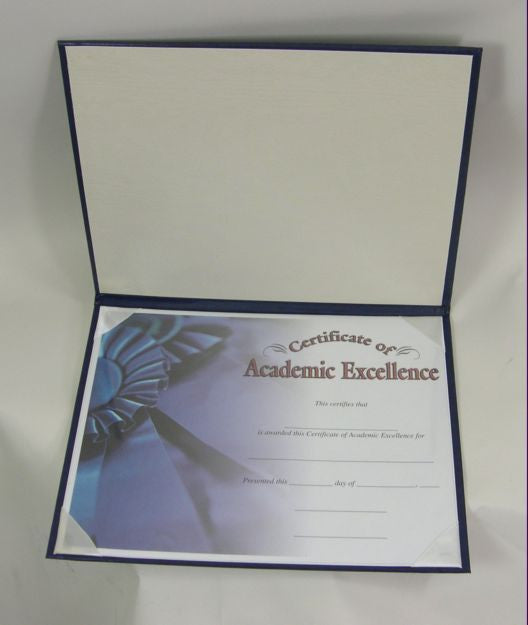 AW10-CERT. Leatherette Certificate Holder