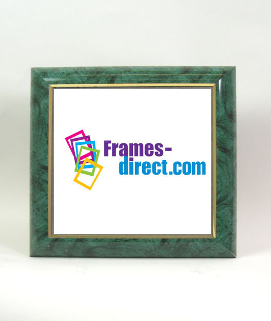 SQ7052 Square Green or Red Marble Polymer Frame