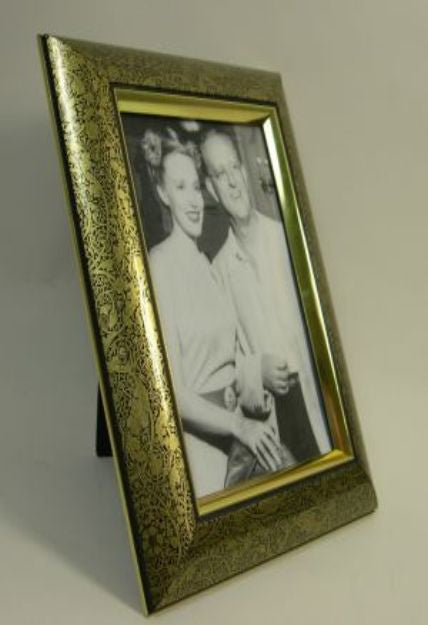 PH7052 5x7 Gold Scrollwork Polymer Photo Frame