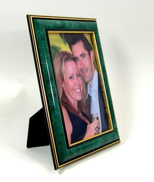PH6596 Jade and Gold Polymer Photo Frame