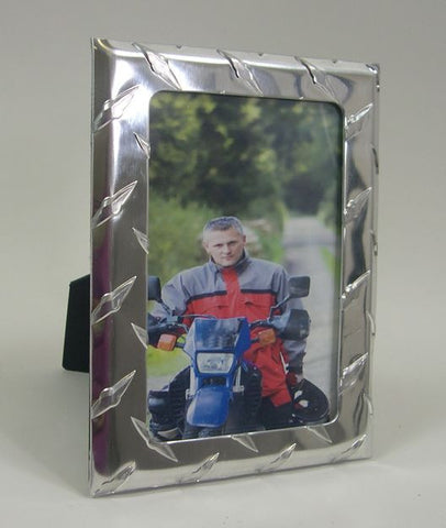 PH0046 4x6 Aluminum Diamond Plate Photo Frame