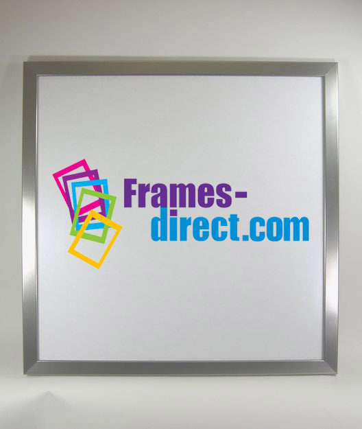 SQ8016 24x24 Square Brushed Silver Wrapped MDF Frame – Frames-Direct.com
