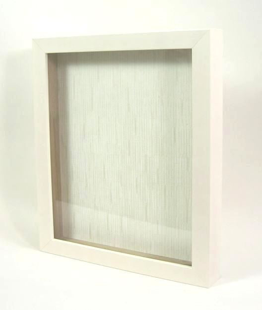 "SB7250 8x10 Cream Wood Shadow Box, 1"" Deep"