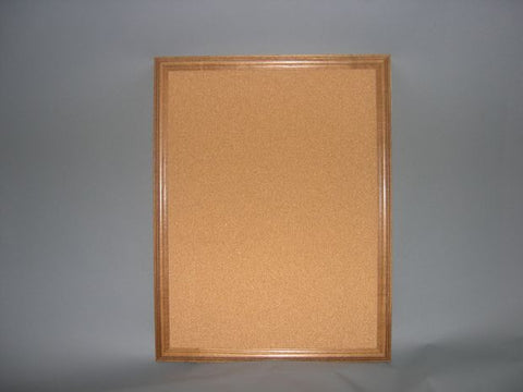 BU8901 Walnut Wood Framed Bulletin Board